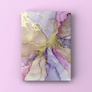 アルコールインクアート インテリアアート アートポスター《purple》(アート/写真)