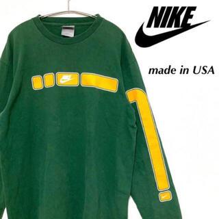 ナイキ(NIKE)の【90s】NIKE ナイキ ロンt 長袖 アメリカ製 usa ヴィンテージ(Tシャツ/カットソー(七分/長袖))