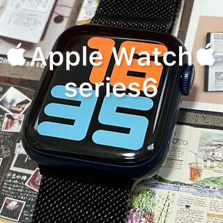 Apple Watch - Apple Watch 6 GPS ブルー 40mm アップウォッチ