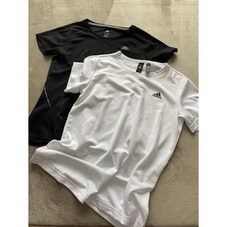 adidas - adidasアディダス◆Tシャツトップス白&黒2枚セット!MくらいUSED
