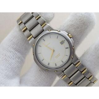 CITIZEN - CITIZEN ATTESA TITANIUM 腕時計 デイト ローマン 軽量