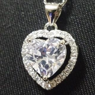 ☆最高級品質☆大人気☆ハート型3ctモアサナイトダイヤモンド☆(ネックレス)
