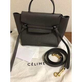 celine - セリーヌ ベルトバッグ グレー
