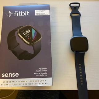 Google - FITBIT Sense GPS搭載 スマートウォッチ FB512BKBK-F…