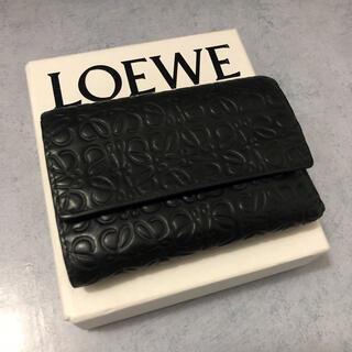 LOEWE - LOEWE ロエベ 二つ折り財布 スモール バーティカル ジップ ウォレット