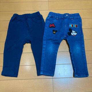 Disney - アカチャンホンポ ディズニー レギンス パンツ ズボン セット 80