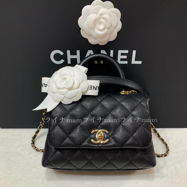 CHANEL(シャネル)のCHANEL🎀シャネル♡ココハンドル♡ミニ♡ブラック レディースのバッグ(ショルダーバッグ)の商品写真