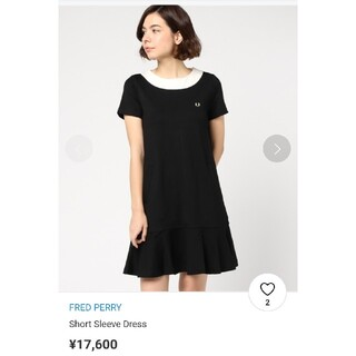 FRED PERRY - FRED PERRY Short Sleeve Dress バイカラーワンピース