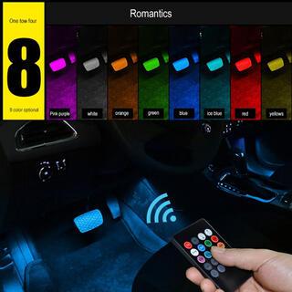 新品未使用 ☆LED ライト イルミネーション サウンドセンサー カー用品 8色