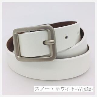 0002✨新品 レザーベルト✨2.3cm 女性レディース ホワイト