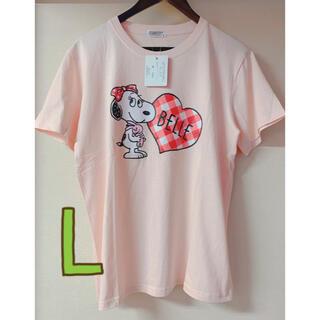 ピーナッツ(PEANUTS)の新品 タグ付き PEANUTS  スヌーピー ベル Tシャツ Lサイズ(Tシャツ/カットソー(半袖/袖なし))