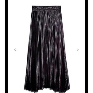 FRAY I.D - FRAY I.D(フレイ アイディー)  レザーライクサテンプリーツスカート
