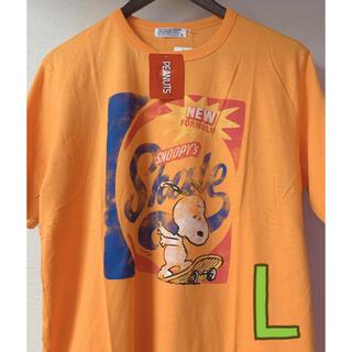 ピーナッツ(PEANUTS)の新品 タグ付き PEANUTS  スヌーピー スケボー Tシャツ Lサイズ(Tシャツ/カットソー(半袖/袖なし))