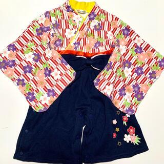 ベビー袴ロンパース 七五三 着物ロンパース 晴れ着 女の子(和服/着物)