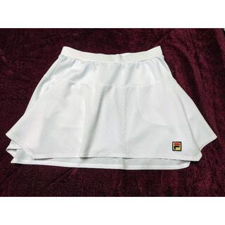 フィラテニススコート 白 Sサイズ(ウェア)