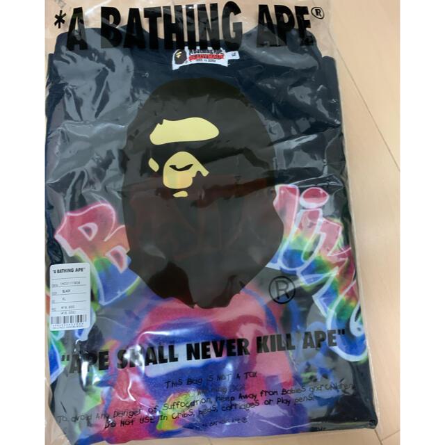 A BATHING APE(アベイシングエイプ)の激安新品XL!BAPEXREADYMADE SPRAY WIDE FITロンT メンズのトップス(Tシャツ/カットソー(七分/長袖))の商品写真