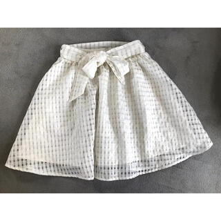 HONEYS - Honeys 白 シフォン風スカート シースルースカート 春夏