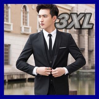 メンズ スーツジャケット ブラック 3XL