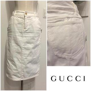 Gucci - GUCCI⭐️グッチ 定価約8万円 ホワイトデニムスカート 38