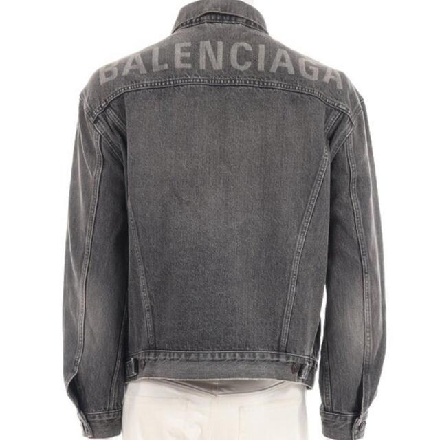 Balenciaga(バレンシアガ)の国内正規品 本物 バレンシアガ デニム ロゴ ジャケット パーカー tシャツ  メンズのジャケット/アウター(Gジャン/デニムジャケット)の商品写真