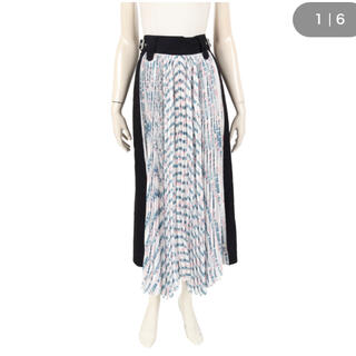 sacai - sacai 切り替えプリーツスカート