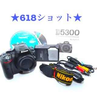 Nikon - ★極上美品★ショット数618★ NIKON D5300 ボディ ブラック