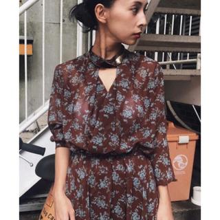 Ameri VINTAGE - Ameri Vintage FLOWER SLIT DRESS