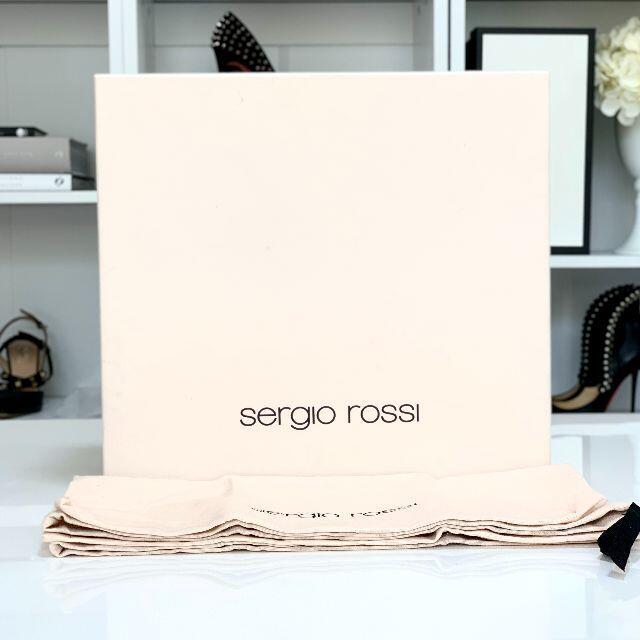 Sergio Rossi(セルジオロッシ)の2540 セルジオロッシ レザー ショートブーツ ブラック レディースの靴/シューズ(ブーツ)の商品写真