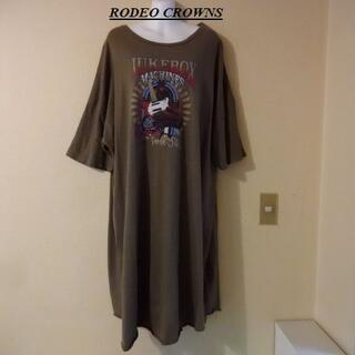 RODEO CROWNS WIDE BOWL - RODEO CROWNSロデオクラウンズ♡BIGサイズロングTシャツワンピース