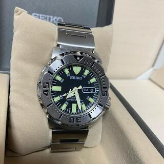 セイコー(SEIKO)の週末限定値下げ 極美品 SEIKO ブラックモンスター 自動巻(腕時計(アナログ))