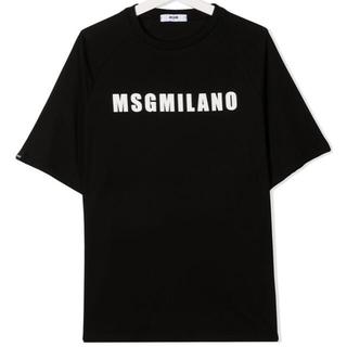 【新作】MSGM ロゴTシャツ ブラック 14(Tシャツ(半袖/袖なし))