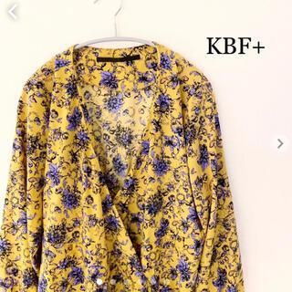 ケービーエフプラス(KBF+)の【KBF+】フラワープリントカシュクール2wayOP ワンピース ガウン(ロングワンピース/マキシワンピース)