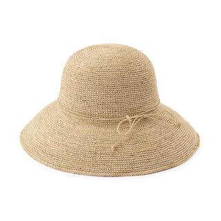 MUJI (無印良品) - 無印良品 MUJI ラフィア キャペリン つば広帽子 麦わら 55~57.5cm