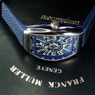 フランクミュラー(FRANCK MULLER)のFRANCK MULLER ヴァンガード V45 青ステッチ 中古美品(腕時計(アナログ))