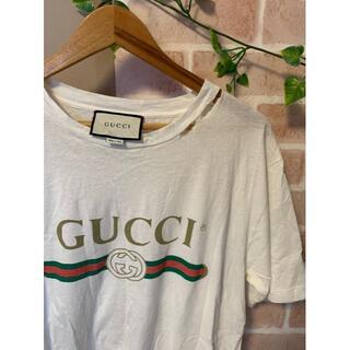 Gucci - 【販売証明書付!】GUCCI グッチ デカロゴ Tee Mサイズ