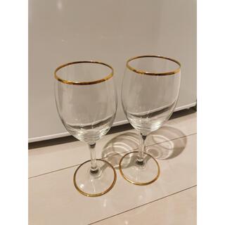 Francfranc - Francfranc リム ワイングラス ゴールド 2個セット