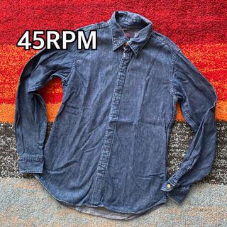 フォーティーファイブアールピーエム(45rpm)の45RPM フォーティーファイブ デニム シャツ 日本製(シャツ/ブラウス(長袖/七分))