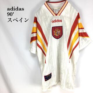 adidas - 希少 90'  adidas スペイン ユニフォーム Tシャツサッカーアディダス