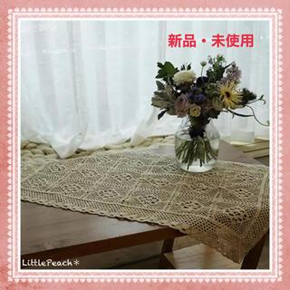 韓国インテリア レース編み マルチカバー 50*88cm ❸(テーブル用品)