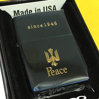 ジッポー(ZIPPO)のZIPPO PEACE ブルーチタン 70周年記念 懸賞 非売品(タバコグッズ)