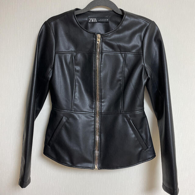 ZARA(ザラ)のZARA ライダースジャケット 黒 ブラック レディースのジャケット/アウター(ライダースジャケット)の商品写真