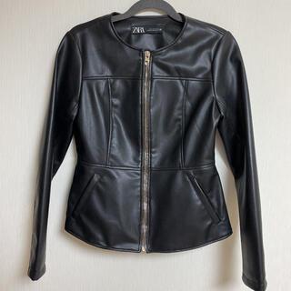 ZARA - ZARA ライダースジャケット 黒 ブラック
