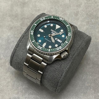 セイコー(SEIKO)のセイコー5 スポーツメカニカル カスタム SBSA011 グリーン SEIKO5(腕時計(アナログ))