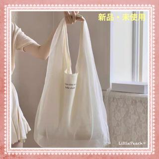 韓国ファッション 帆布トートバック 大容量 エコバッグ(トートバッグ)