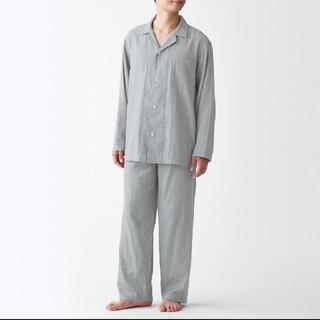 MUJI (無印良品) - 脇に縫い目のない 二重ガーゼパジャマ メンズL~XL