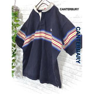 カンタベリー(CANTERBURY)のカンタベリー ニュージーランド ラガーシャツ ポロシャツ 刺繍ロゴ XL(ポロシャツ)