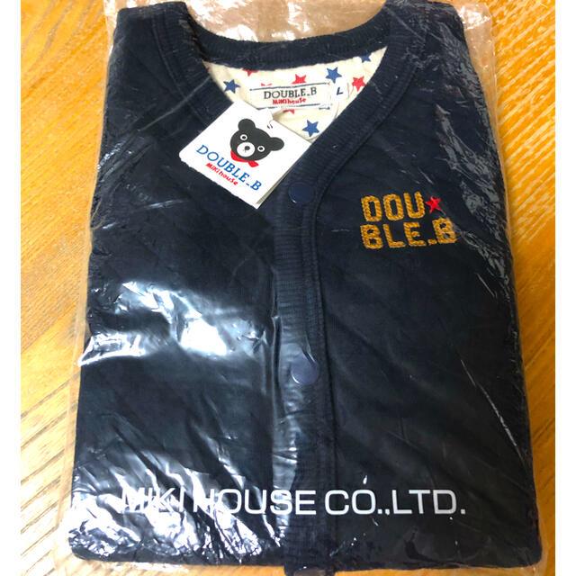 DOUBLE.B(ダブルビー)の新品未着用 ミキハウス ダブルB キルティング ベスト 90 100 キッズ/ベビー/マタニティのキッズ服男の子用(90cm~)(ジャケット/上着)の商品写真