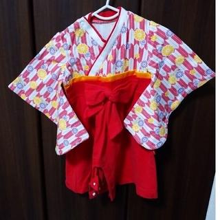 袴ロンパース 70cm(和服/着物)