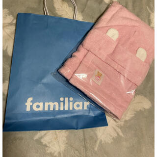 familiar - familiar ポンチョ型バスタオル(フード付き)
