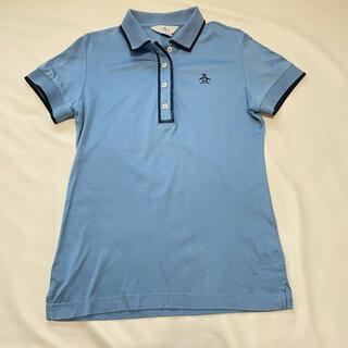 マンシングウェア(Munsingwear)のマンシングウェア 半袖ポロシャツ レディース ブルー #M(ウエア)